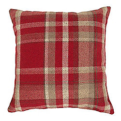 McAlister Heritage Cushion - Red Wool Look Tartan Check