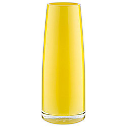 Tesco Taper Vase, Yellow