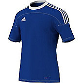 Adidas Toque 11 Climalite Short Sleeved Football Shirt Blue / White Stripe - Blue & White