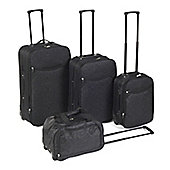 Set of 4 Damask Print Luggage