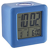 Acctim Vanos Blue Rubber Cube Alarm Clock