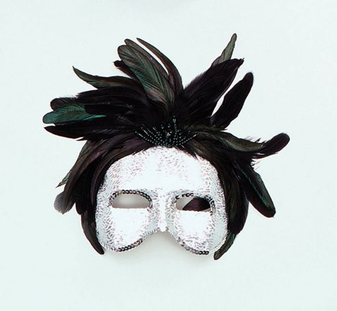 Silver 1/2 Face Ladies mask