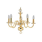Polished Brass Ceiling Pendant Light in Solid Cast Metal