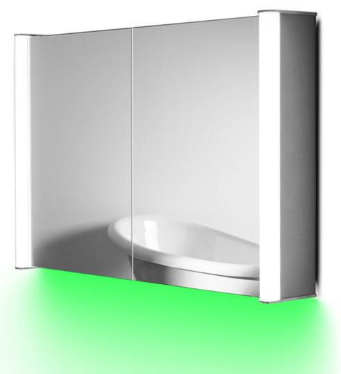 Buy Ambient Aura Cabinet With Demister Pad, Sensor & Shaver K401-1g From Our Bathroom Standing