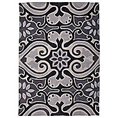 Tesco Ethnic Rug Black/White 150X240Cm