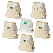 TotsBots Bamboozle Stretch Natural Nappy 5 Pack (Size 1)