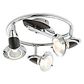 Home Essence Lord 3 Light Ceiling Spotlight in Chrome