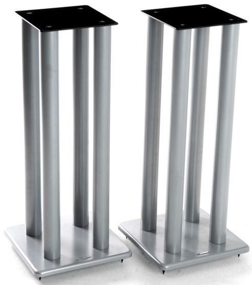 Atacama Pair of Speaker Stands in Silver - Height 700mm
