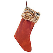Felt & Faux Fur Christmas Stocking