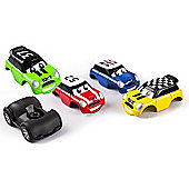 Go Mini Turbo Pullback Cars Stunt Set
