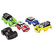 Go Mini Turbo Pullback Cars Stunt Set