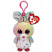 """TY Beanie Boo Boos 3"""" Key Clip - Swirls the Bunny (Easter Exclusive)"""
