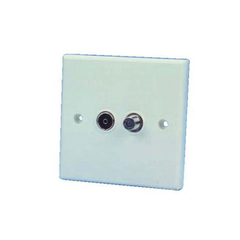 Flush Mounting TV/Satellite Outlet Socket