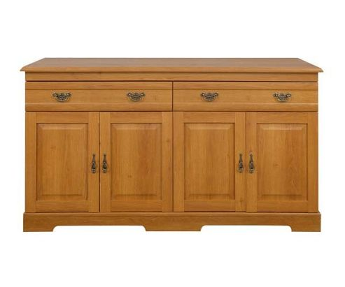 Caxton Canterbury 4 Door / 2 Drawer Sideboard in Golden Chestnut