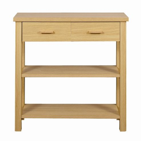 Caxton Huxley 4 Leg Console Table in Light Oak