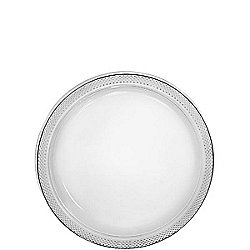 Clear Dessert Plates - 17cm Plastic Party Plates