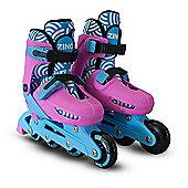 Zinc Adjustable Inline Skates - Pink - Size 13-3