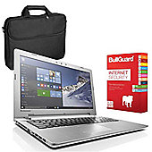 "Lenovo IdeaPad 500 80NT0066UK 15.6"" Laptop With BullGuard Internet Security & Case"