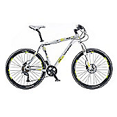 "18"" Whistle Miwok 1380D Mens' Bike, Silver/White"
