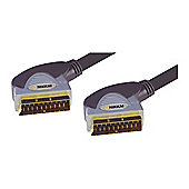 Nikkai Scart 21Pin Lead Cable 24K Gold Connectors 0.75M