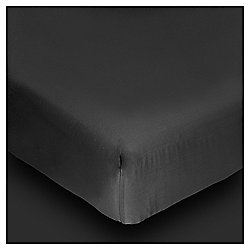 Tesco Egyptian Cotton Fitted Single Sheet, Black