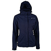Monsoon Extreme Womens Waterproof Rain Coat Anorak Hooded Shower Proof Jacket - Blue