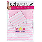 Dolls World Quilt And Pillow Set