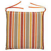 Tesco Cushion Seat Pad 2pk, Orange Stripe