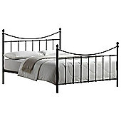 """Black Edwardian Style Metal Bed Frame - Double 4ft 6"""""""