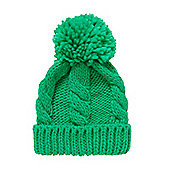 Mothercare Boy's Green Cable Knit Beanie Hat Size 1-3 years