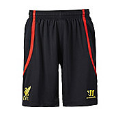 2014-15 Liverpool Away Goalkeeper Shorts (Black) - Kids - Black
