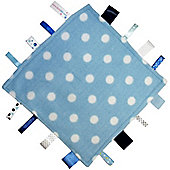 Dotty Fish Baby Tag Blanket - Blue Polka Dot