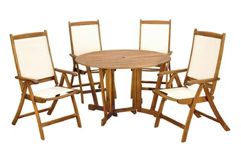 Henley 5pc gateleg dining set henley round 120cm table with 4 henley recliner chairs 05020125279704 - Round gateleg dining table ...