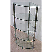 Heartlands Cologne Five Tier Corner Rack Unit - Black