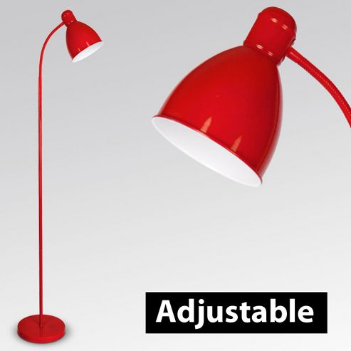 Adjustable Flexi Neck Floor Lamp in Red