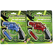 Spy Mission Die Cast Metal Cap Gun -with Silencer