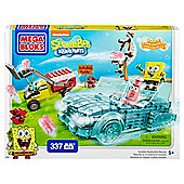 Mega Bloks SpongeBob SquarePants 337-Piece Invisible Boatmobile Rescue