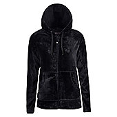Mountain Warehouse Snaggle Womens Hooded Fleece - Black