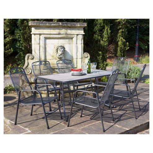 Buy Royal Garden Savoy Mesh Dining Set 6 Seater From Our All Garden Furniture