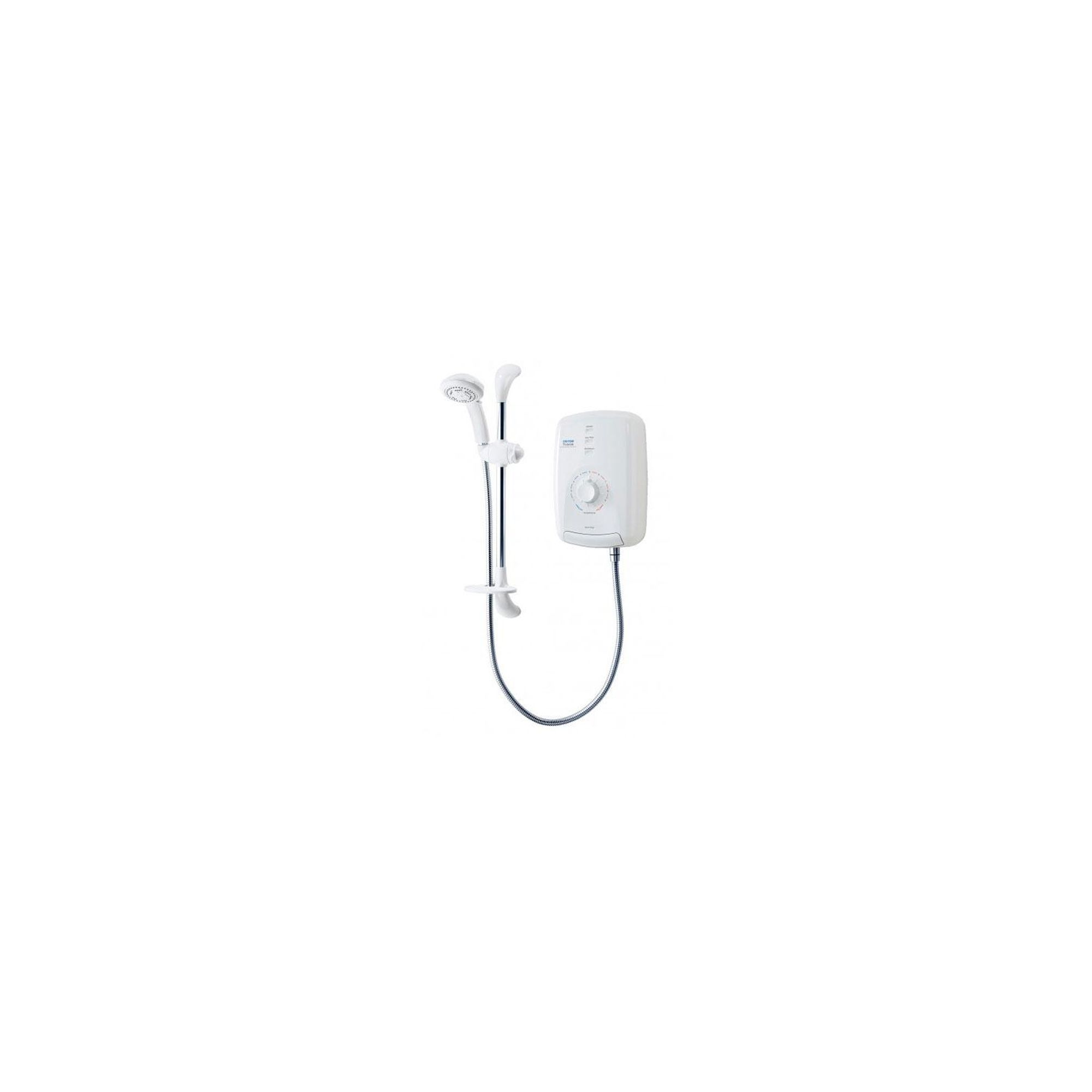 Triton T150Z Thermostatic Electric Shower White/Chrome 8.5 kW at Tesco Direct