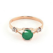 QP Jewellers Diamond & Emerald Aspire Ring in 14K Rose Gold