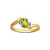 QP Jewellers Diamond & Peridot Embrace Ring in 14K Gold