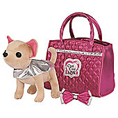 Chi Chi Love Glam Fashion Dog In Handbag