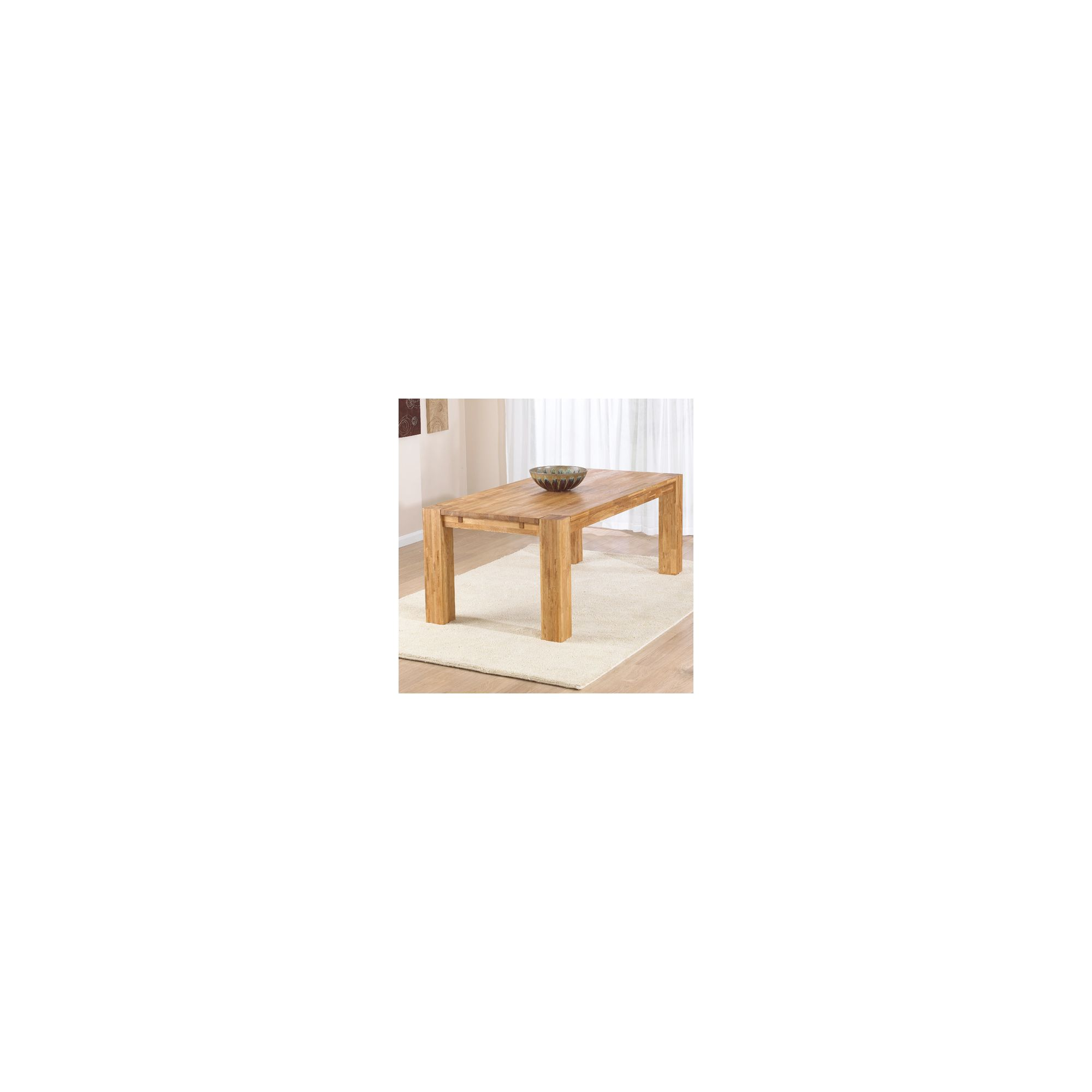Mark Harris Furniture Madrid Chunky Solid Oak Dining Table - 200 cm