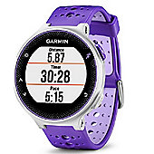 Garmin - Forerunner 230 with Premium Soft-Strap HRM Purple and White