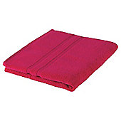 Tesco 100% Combed Cotton Bath Towel Fuschia