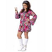 Women's Feelin' Groovy Costume (Plus Size)