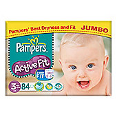 Pampers Active Fit Jumbo Midi 84