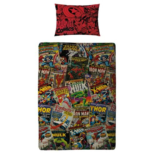 Marvel Comic Duvet Cover Set Single