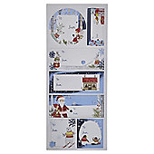 The Night Before Christmas Sticker Tags